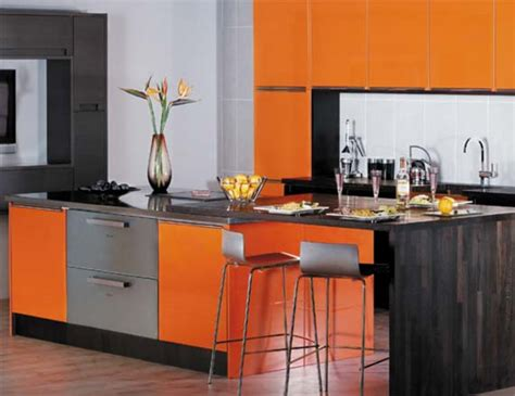 orange kitchen designing home colouring outside the box with orange