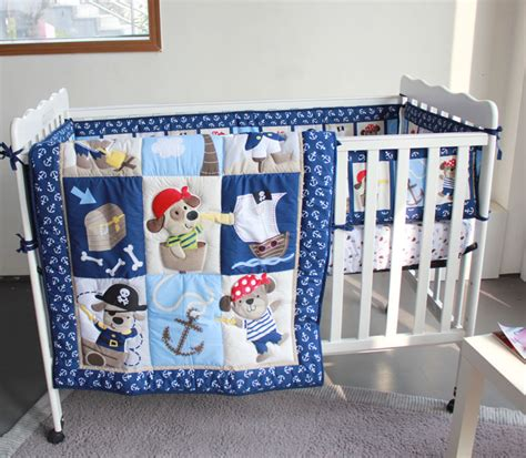 crib for baby boy cool dogs caribbean pirate 4pc baby boy crib bedding set