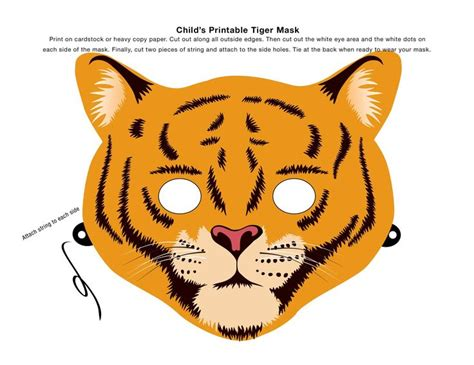 How To Make A Tiger Mask Out Of Paper - make an animal mask using this clip tiger mask