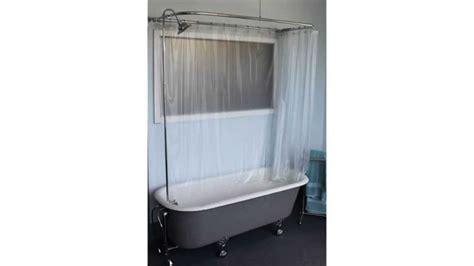 add a shower to a bathtub claw foot tub wall mounted shower curtain rod add a shower