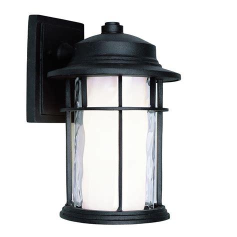 Bel Air Outdoor Lighting Bel Air Lighting Stewart 6 Light Black Outdoor Led Wall Lantern Led 5290 Bk The Home Depot