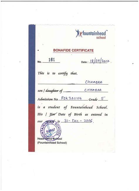 Bonafide Certificate Letter Sle sle bonafide certificate for opening bank account image