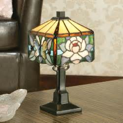 Small Table L Glass Shade Small Mini Sized Table L Nouveau Floral