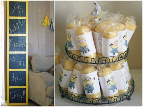Minion Baby Shower Ideas by Sparkle Pretty A Minion Is On His