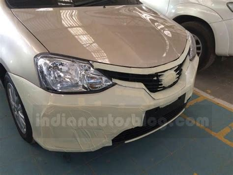 Grille Depan Chrome Toyota Etios Valco toyota etios facelift spied inside and out