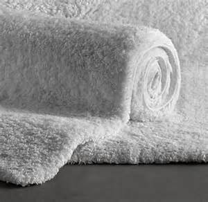 White Bathroom Rugs Restoration Hardware Plush Pile Bathroom Rug 21 X 36 Pre Owned White Ebay