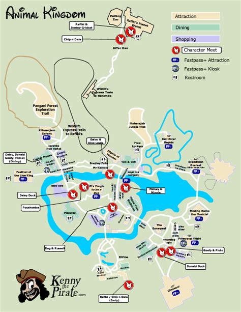 map of animal kingdom disney world s animal kingdom map with character meet and