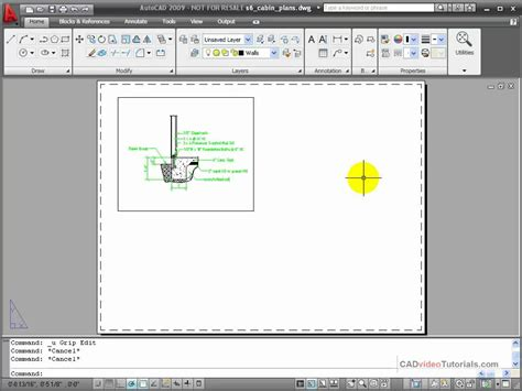 autocad layout viewport border autocad tutorial modifying a viewport youtube