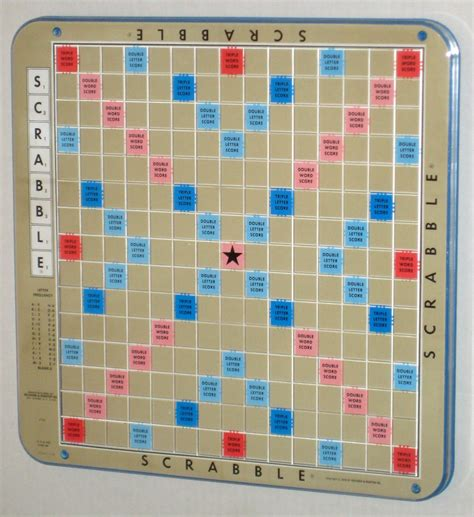 turntable scrabble board sold scrabble deluxe blue turntable rotating board