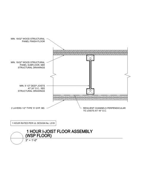 1 Hr Ceiling Plywood Floors - ul floor ceiling assembly integralbook