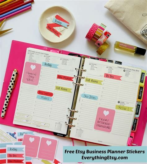 printable planner pages etsy 16 free planner printables