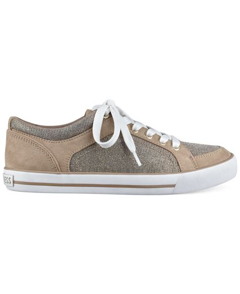 g by guess sneakers g by guess oulala lace up sneakers in metallic lyst