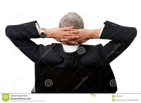 Leaning Back In Chair by Businessman Leaning Back In The Chair Stock Images Image