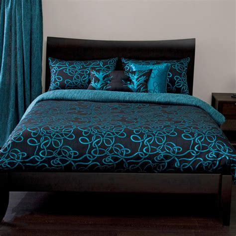 turquoise and black bedding quilted circles chocolate brown duvet cover set quotes