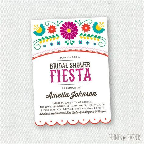 Cinco Shower by Printable Bridal Shower Invitations Mexican Cinco De Mayo Shape Floral Prints And