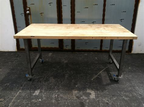 metal rolling dining table desk base top not included