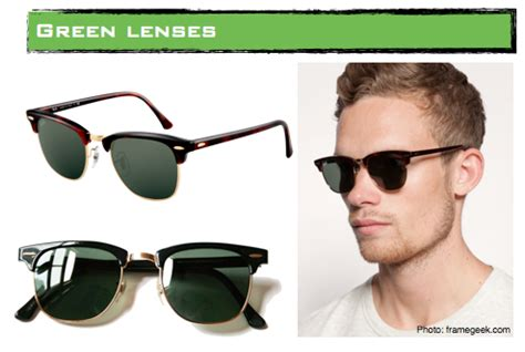 are ray ban crystal green lenses glass