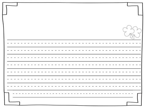 printable journal pages for first grade free writing paper for 1st grade blank lined writing