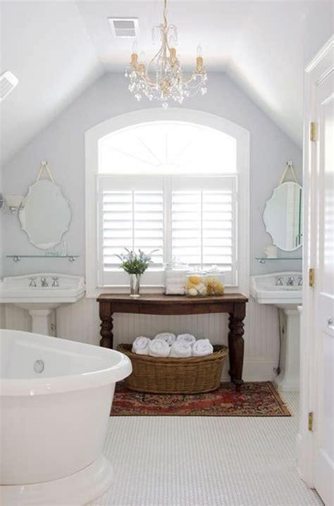white bathroom decorating ideas white attic bathroom decor