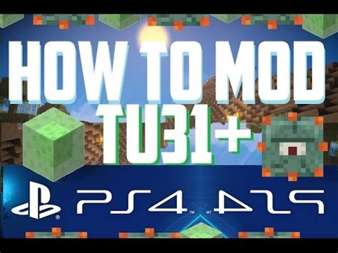 mod in minecraft ps4 how to mod minecraft tu33 ps3 ps4 easy mod tutorial 2016