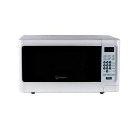 Microwave 300 Watt westinghouse 1 1 cu ft 1000 watt countertop microwave in white wcm11100w the home depot