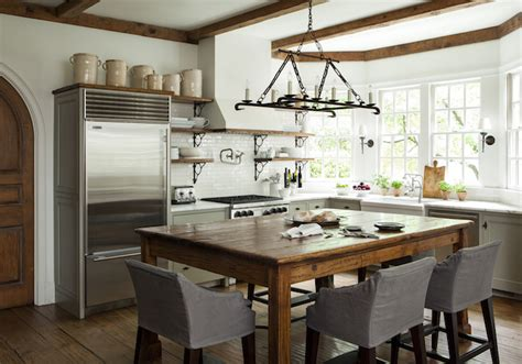 island dining table transitional kitchen westbrook