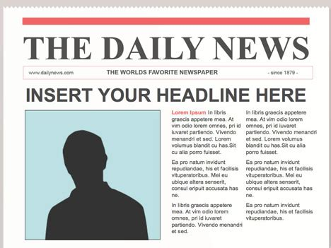 Newspaper Templates Free by Editable Powerpoint Newspapers