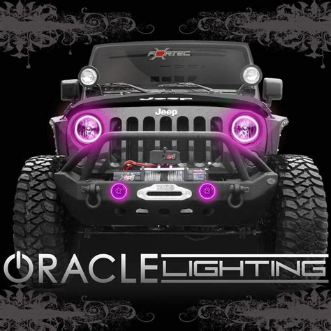 2007 2014 jeep wrangler jk oracle led headlight fog light