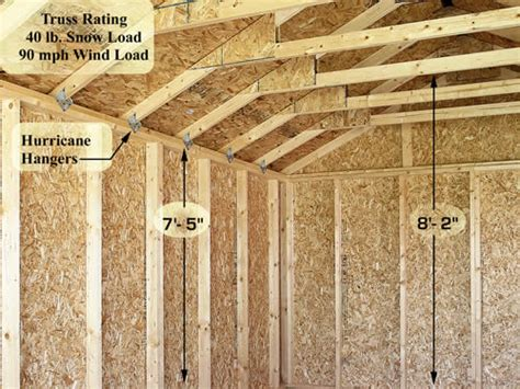 Sierra 12x24 Wood Storage Garage Shed Kit