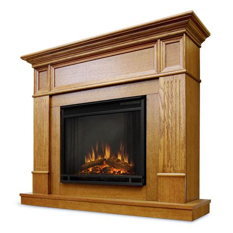 Oak Electric Fireplace Real Camden Electric Fireplace In Light Oak
