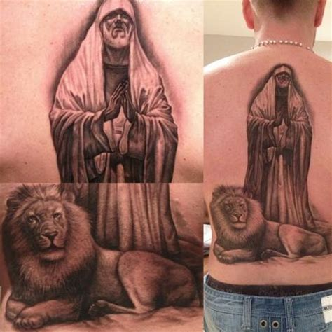 lions den tattoo infamous company tattoos black and gray