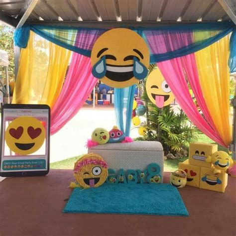 birthday themed emojis 30 emoji birthday party ideas pretty my party