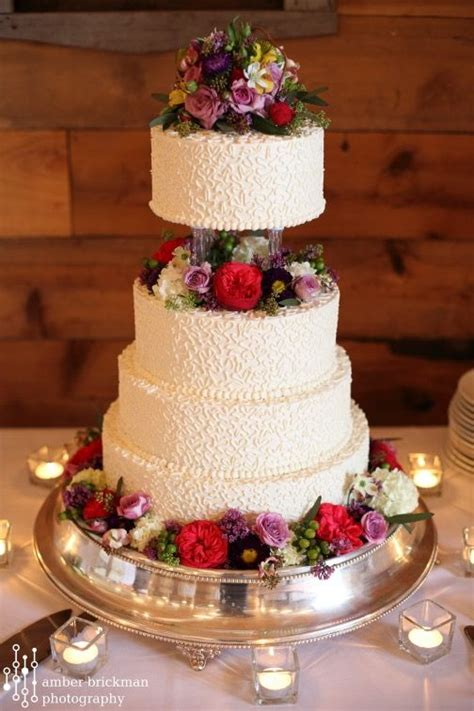 Wedding Cake Pillars by Four Tier Wedding Cake With Pillars Fireseed Catering