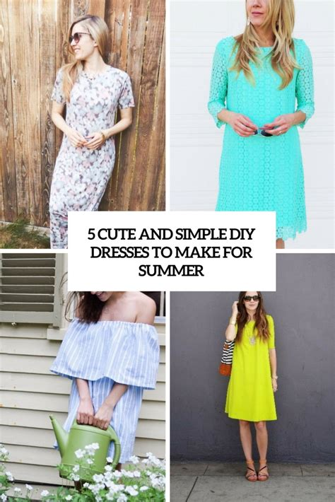 5 Fabulous Diy Fashion Ideas by Picture Of 5 And Simple Diy Summer Dresses To Make Cover