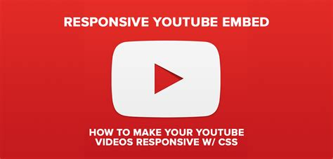 responsive layout youtube embed responsive youtube embed tutorial avex designs