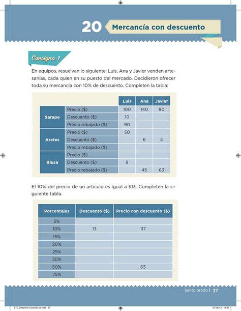issuu matematicas 6 grado contestado desaf 237 os matem 225 ticos 6 176 grado para el alumno by escuelas