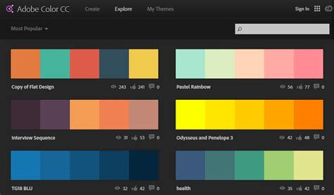 adobe colors 60 color palette generators for web designing