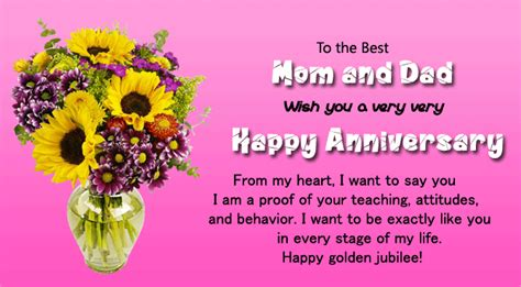 Wedding Anniversary Wishes For Inlaws by Happy 50th Wedding Anniversary Wishes For Parents