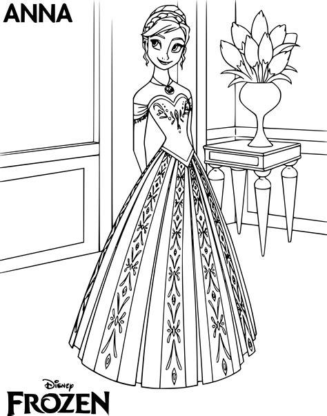 Coloriage Princesse Anna 224 Imprimer