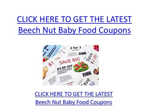 printable baby food coupons beech nut baby food coupons printable beech nut baby