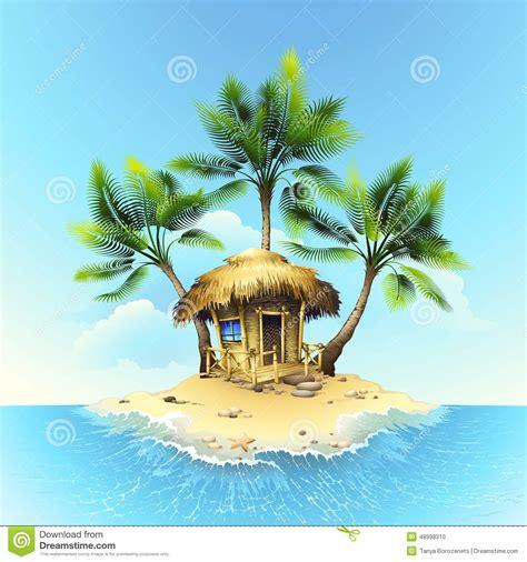 Tropical L pavillon tropical sur l 238 le tropicale illustration de