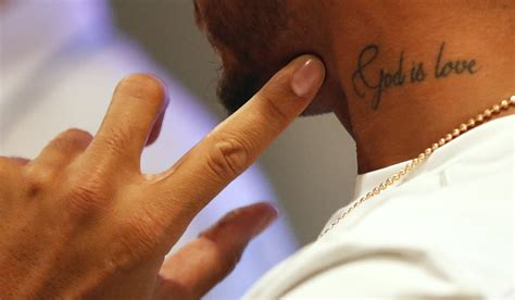 god is love tattoo lewis hamilton loving as he prepares for a