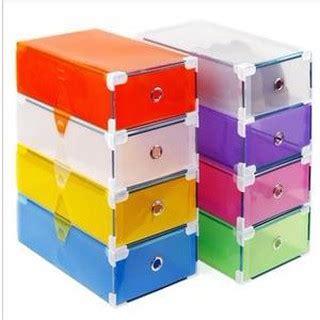 Kotak Sepatu Transparan Silver Frame dapurcantik kotak sepatu transparan with frame kotak