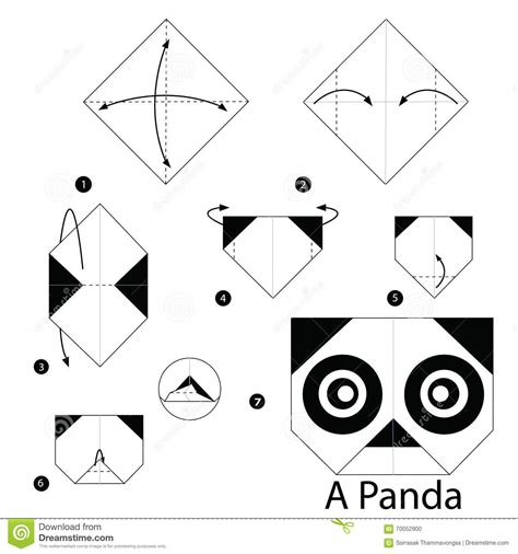How To Make A Origami Panda - step by step how to make origami a panda