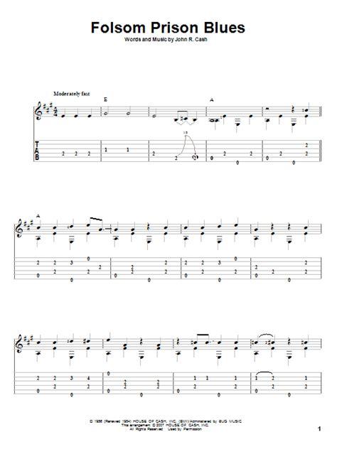 Folsom Prison Guitar Chords