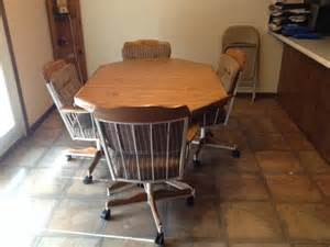 Dining Table With Rolling Chairs Dining Table And Rolling Chairs Nex Tech Classifieds