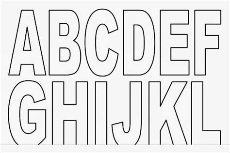 printable alphabet block letters the alphabet in block letters sle letter template