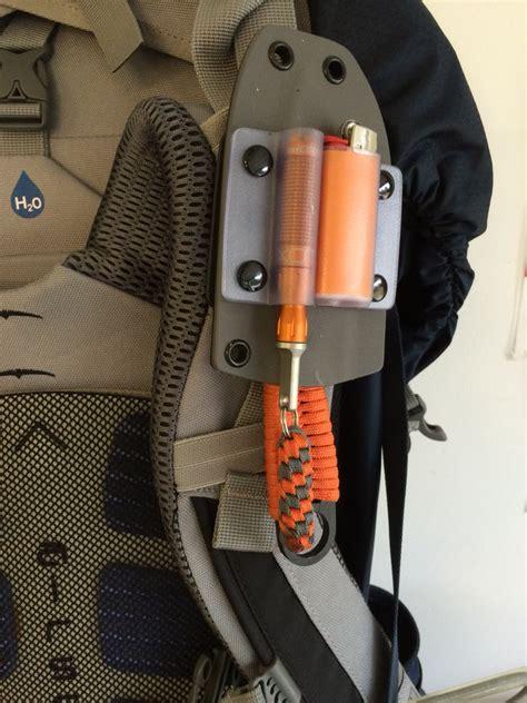 boatswain define knife lighter exotac fire striker in custom kydex sheath