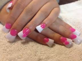 Simple Purple Nail Art Designs Pink And White Acrylic Nails Nails Pinterest Pink The Pink And Love