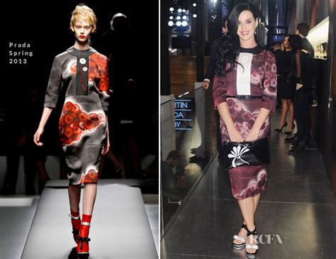 Catwalk To Carpet Allen In Prada by Katy Perry In Prada Catherine Martin And Miuccia Prada